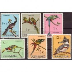 Panama - Nr 989 - 94 1967r - Ptaki