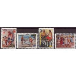 Polinezja Fr. - Nr 774 - 77 1998r. - Ryby - Malarstwo