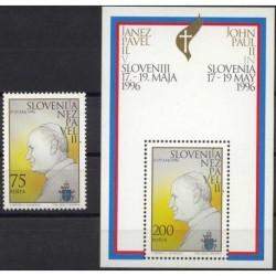 Słowenia - Chr 226 1996r - Papież