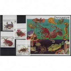 Somalia - Nr 705 - 08 Bl 52 1998r - Fauna morska