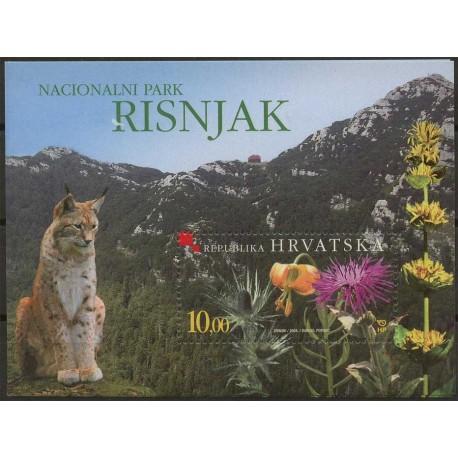 Chorwacja - Bl 24 2004r - Kwiaty, Ssak