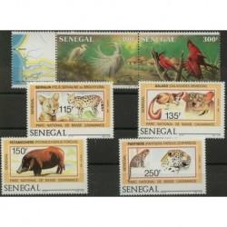 Senegal - Nr 938 - 43 1987r - Ptaki - Ssaki