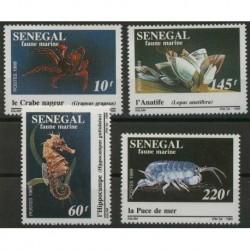 Senegal - Nr 1041 - 44 1989r - Fauna morska