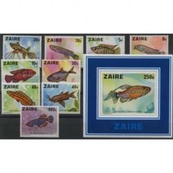 Zair - Nr 548 - 56 Bl 171978r - Ryby