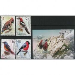 Macedonia - Nr 329 - 32 Bl 11 2004r - Ptaki