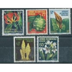 Francuska Afryka Zachodnia - Nr 095 - 99 1958r - Kwiaty