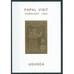 Uganda - Bl 184 1993r - Papiez