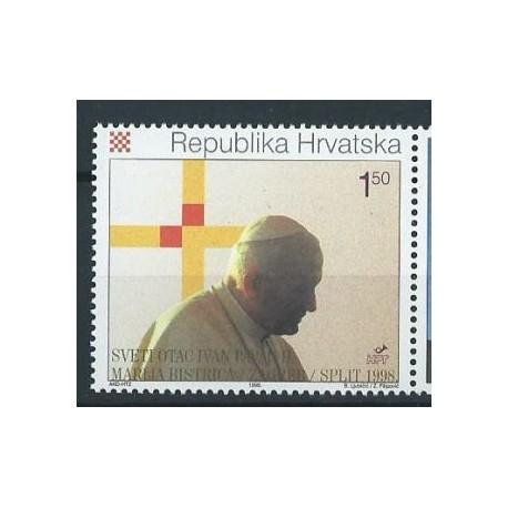 Chorwacja - Chr. 255 1998r - Papież