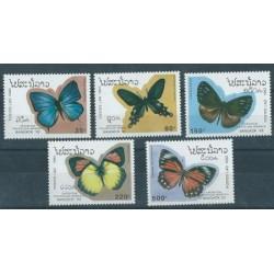 Laos - Nr 1378 - 82 1993r - Motyle