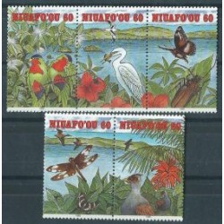 Niuafo,ou - Nr 250 - 54 Pasek 1993r - Ptaki - Motyle