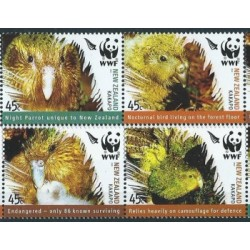 Nowa Zelandia - Nr 2276 - 79 Pasek 2005r - WWF - Ptaki