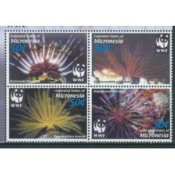 Mikronezja - Nr 1674 - 77 2005r - WWF - Fauna morska