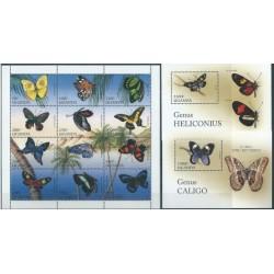 Uganda - Nr 1704 - 15 Bl 257 - 58 1996r - Motyle