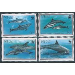 Niue - Nr 822 - 25 1993r - WWF - Ssaki morskie