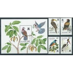 Uganda - Nr 333 - 36 Bl 35 1982r - Ptaki