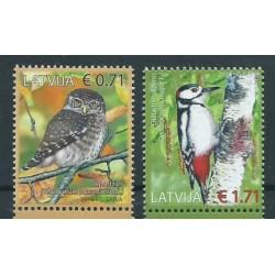 Łotwa - Nr 982 - 83 2016r - Ptaki