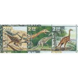 Izrael - Nr 1576 - 78 2000r - Dinozaury