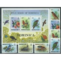 Dominika - Nr 481 - 87 Bl 36 1976r - Ptaki