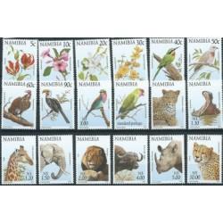 Namibia - Nr 876 - 93 1977r - Ptaki - Ssaki