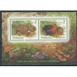 Malezja - Bl 50 2001r - Ptaki