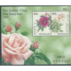 Nowa Zelandia - Bl 69 1997r - Kwiaty