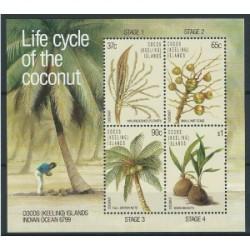 Wyspy Kokosowe - Bl 6 1988r - Owoce