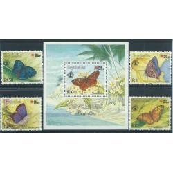 Seszele - Nr 747 - 50 Bl 371991r - Motyle