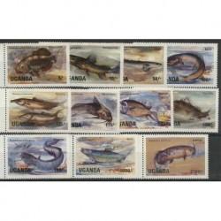 Uganda - Nr 412 - 22 1985r - Ryby