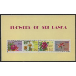 Sri - Lanka - Bl 181982r - Kwiaty