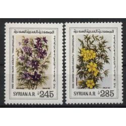 Syria - Nr 1590 - 91 1984r - Kwiaty