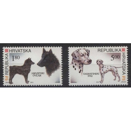 Chorwacja - Nr 583 - 84 2001r - Psy
