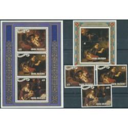 Wyspy Cooka - Nr 1249 - 51 Bl 163 - 64 1987r - Boże Narodzeni