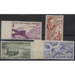 Francuska Afryka Zachodnia - Nr 053 - 56 B 1947r - Ptaki