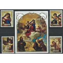 Aitutaki - Nr 658 - 61 Bl 74 1989r - Boże Narodzenie