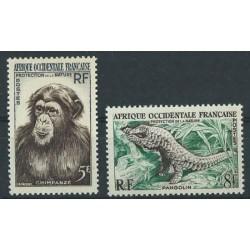 Francuska Afryka Zachodnia - Nr 071 - 72 1955r - Ssaki - Kol.