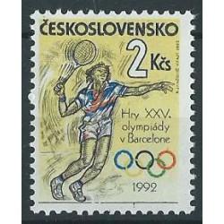 Czechosłowacja - Nr 3115 1992r - Tenis