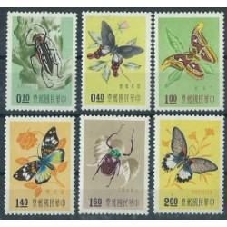Tajwan - Nr 282 - 87 1958r - Motyle