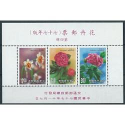 Tajwan - Bl 41 1988r - Kwiaty