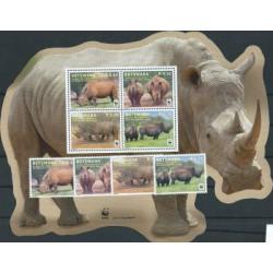 Botswana - Nr 953 - 56 Bl 44 2011r - WWF - Ssaki