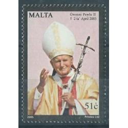 Malta - Nr 1381 2005r - Papież
