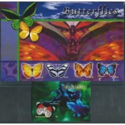 Antigua & Barbuda - Nr 4001 - 04 Bl 581 2003r - Motyle