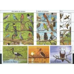 Ghana - Nr 1546 - 93 Bl 179 - 81 - Ptaki