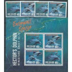 Nowa Zelandia - Nr 1195 - 96 Bl 28 1991r - Ssaki morskie