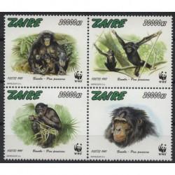 Zair - Nr 1339 - 42 1997r - WWF - Ssaki