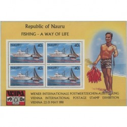 Nauru - Bl 4 1981r - Połów ryb - Marynistyka