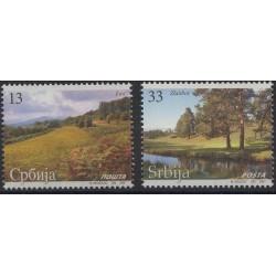 Serbia - Nr 170 - 71 2007r - Drzewa - Krajobraz